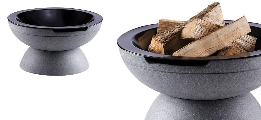 Feuerschale Round grau
