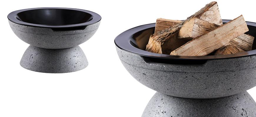 Feuerschale Round grau porig