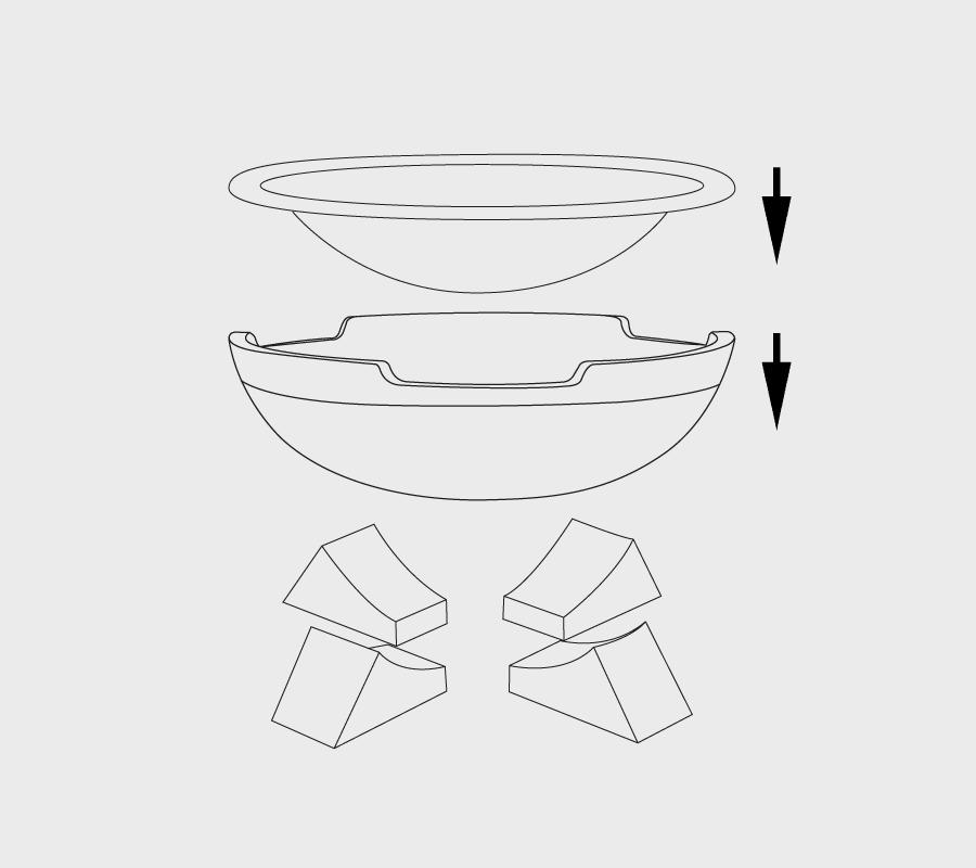 Aufbau Feuerschale Modell 4Feet