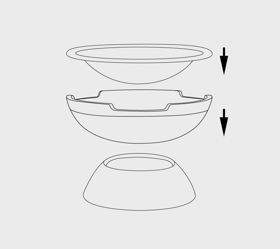Aufbau Feuerschale Modell Round